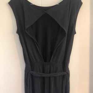 Adorable silky charcoal romper. Never worn!